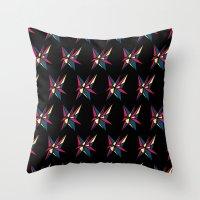 Crystallis [BLACK] Throw Pillow