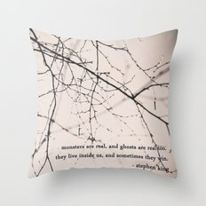 monsters + ghosts Throw Pillow