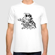 Lion SMALL White Mens Fitted Tee