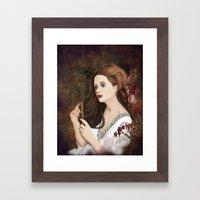 Until dark, my love (Vampire Ball) Framed Art Print