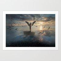 Birds of freedom Art Print