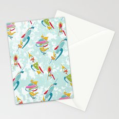 Abstracted Rockets Remix Stationery Cards