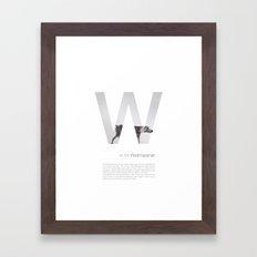 W is for Weimaraner Framed Art Print
