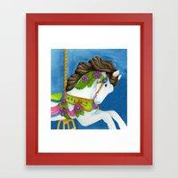 Carousel Horse - Gayle Framed Art Print