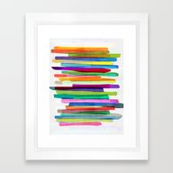 Framed Art Print featuring Colorful Stripes 1 by Mareike Böhmer Grap…