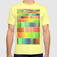 PRISMATIC RAINBOW Mens Fitted Tee Lemon SMALL