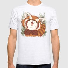 Panda Mens Fitted Tee Ash Grey SMALL