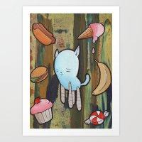 Foody Art Print