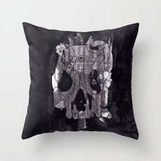 Metal Skull Throw Pillow