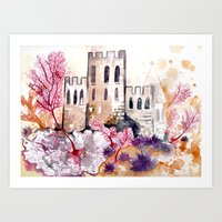 Castle And Coral Art Print