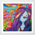 adventure time - starmunchin'! Art Print