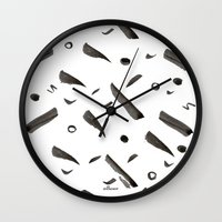 Brushes Pattern Wall Clock