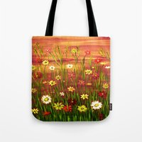 Flowers in the sunrise Tote Bag
