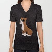 Boxer - Cute Dog Series Unisex V-Neck