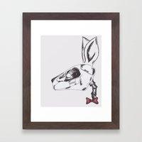 francine the rabbit queen. Framed Art Print