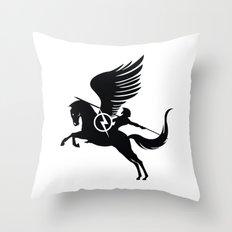 Pegasus Black Throw Pillow
