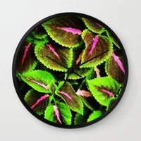 Coleus Wall Clock