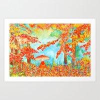 Sylvan Mushroom Art Print