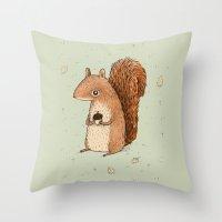 Sarah the Squirrel Throw Pillow
