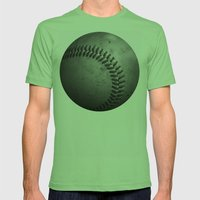 Baseball Mens Fitted Tee Grass SMALL