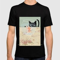 Fishy Mens Fitted Tee Black SMALL