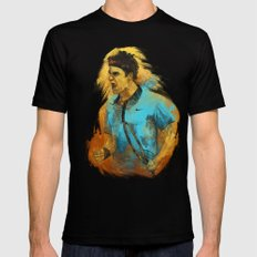Roger Federer Mens Fitted Tee Black SMALL