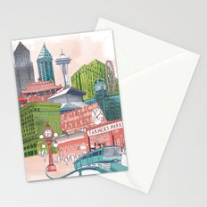 A Pleasant Day in Seattle Stationery Cards