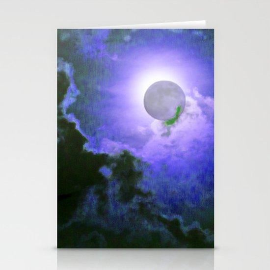 Summer Full Moon Stationery Card