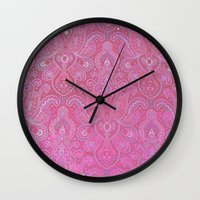 Paisley Jewels Wall Clock