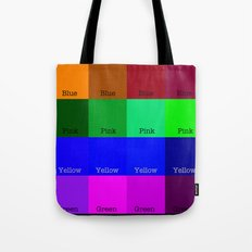 Blue, Pink, Yellow, Green  Tote Bag
