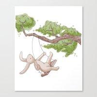 Swing Low Sweet Bunny Canvas Print