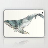 Laptop & iPad Skin featuring Humpback Whale by Amy Hamilton