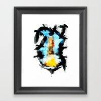 Twelve Crows Framed Art Print
