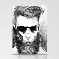Lion man Stationery Cards