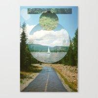 Wet Road Canvas Print