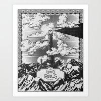 Lord Of The Rings Mordor… Art Print