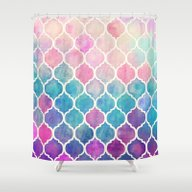 Rainbow Pastel Watercolo… Shower Curtain