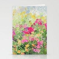 Dreamy Confetti Flower B… Stationery Cards