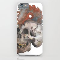 iPhone & iPod Case featuring Inked up Skull by VerticalSynapse