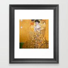 Gustav Klimt - The Woman in Gold Framed Art Print