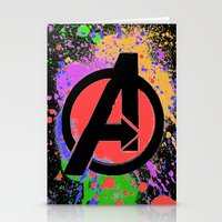 Avenge paint Stationery Cards