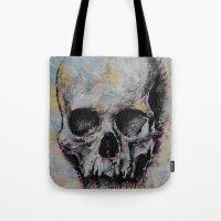 Medieval Skull Tote Bag