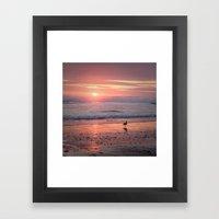 Sunset At Cannon Beach O… Framed Art Print