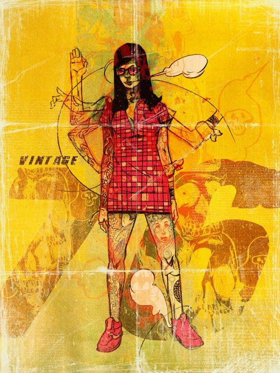 Vintage 76 (motion) Art Print