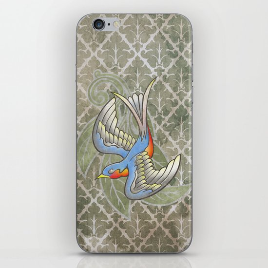 Sparrow tattoo iPhone & iPod Skin