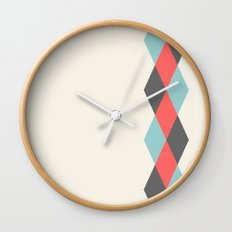 Weaving Diamonds Wall Clock