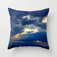 Deep Blues Throw Pillow