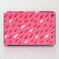Red + Pink Droplets iPad Case