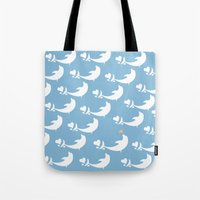 Joyful Dolphin Dancing in the Ocean Tote Bag