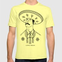 Liberace Mariachi Mens Fitted Tee Lemon SMALL